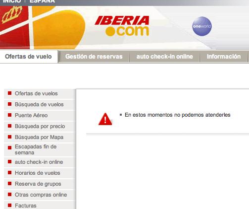 No entiendes la comunicación digital, ejemplo Iberia